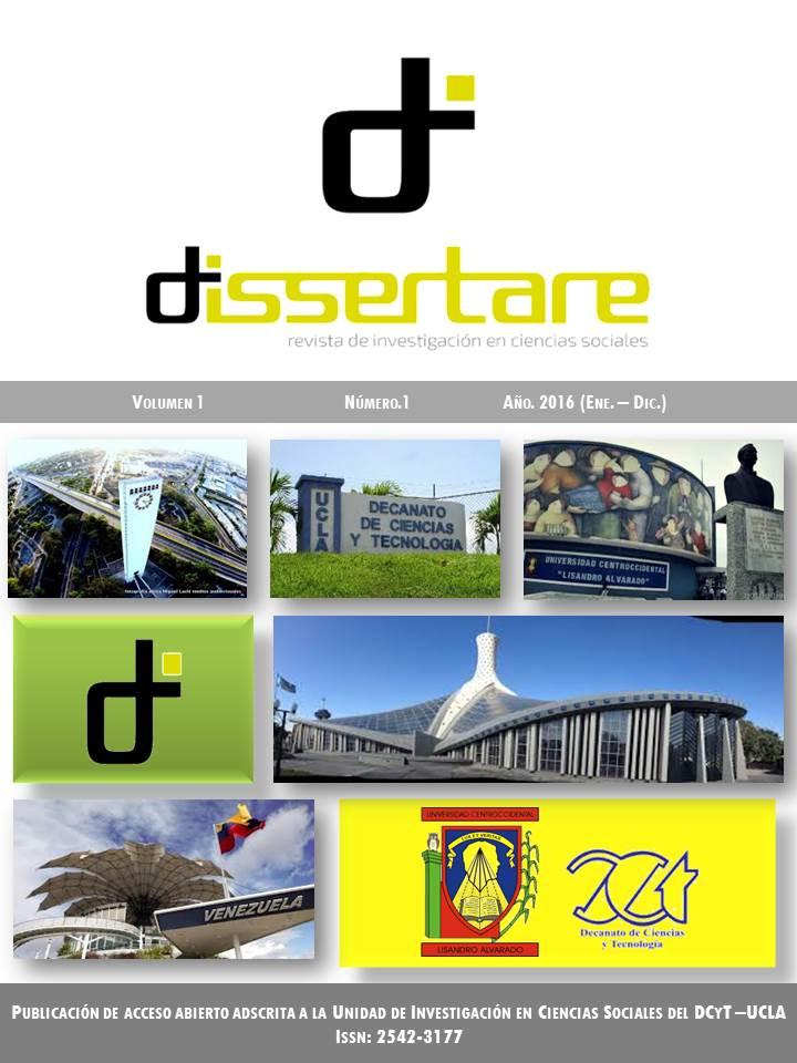 Revista Dissertare. Portada Volumen 1, Nº 1, Año 2016 (Enero- Diciembre)