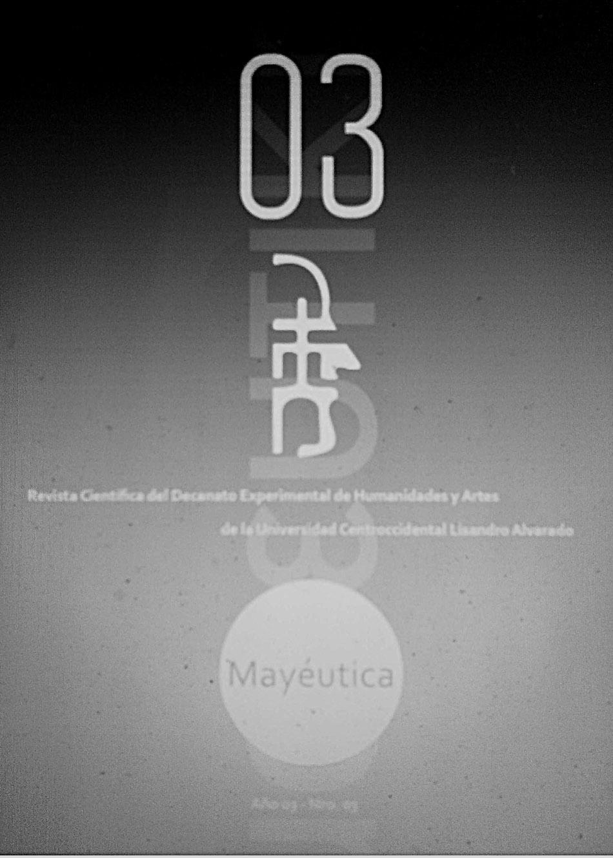 Mayéutica Revista Científica de Humanidades y Artes. Volumen 3