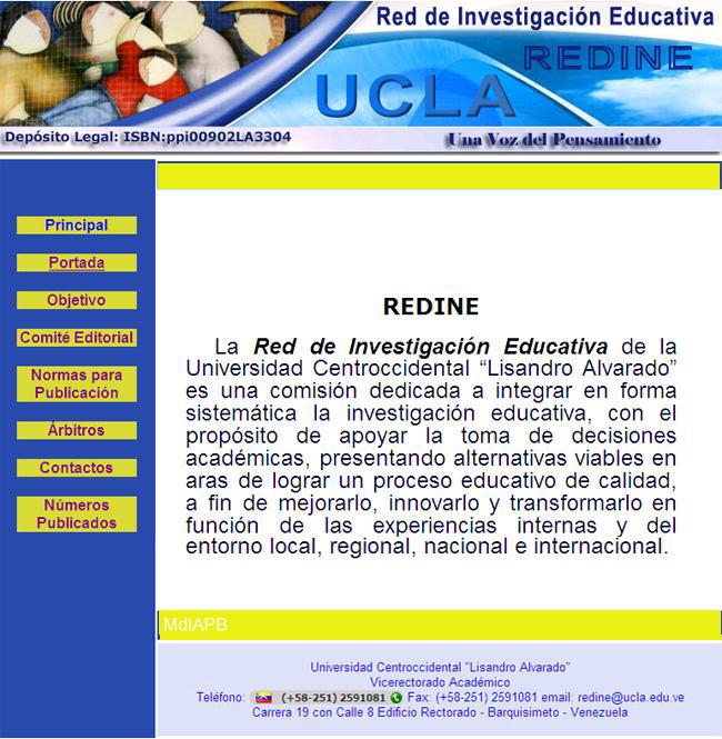 Revista: Red de Investigación Educativa (REDINE)