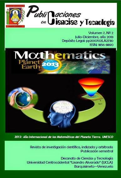Publicaciones en Ciencias y Tecnologia Vol 7 nro 2 año 2013
